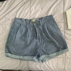 TopShop Moto Paper Bag Shorts High Waisted